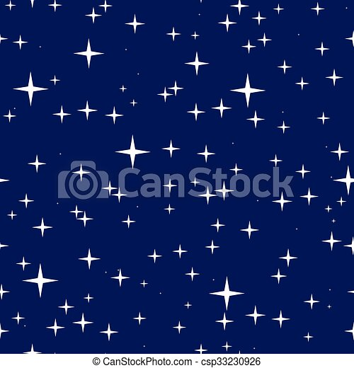Starry night sky seamless pattern - csp33230926