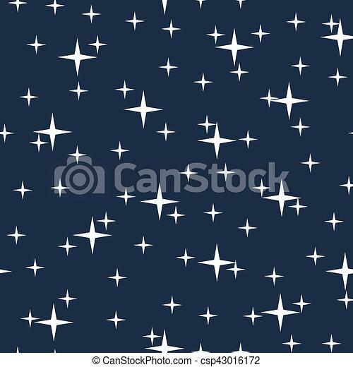 Starry night sky seamless pattern - csp43016172
