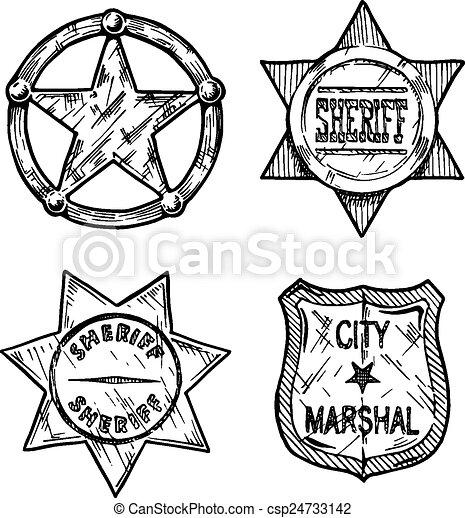 Sheriff Stars. - csp24733142