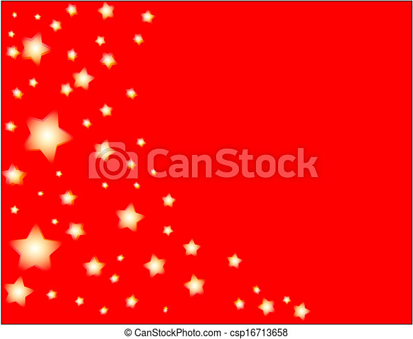 stars and red background - csp16713658