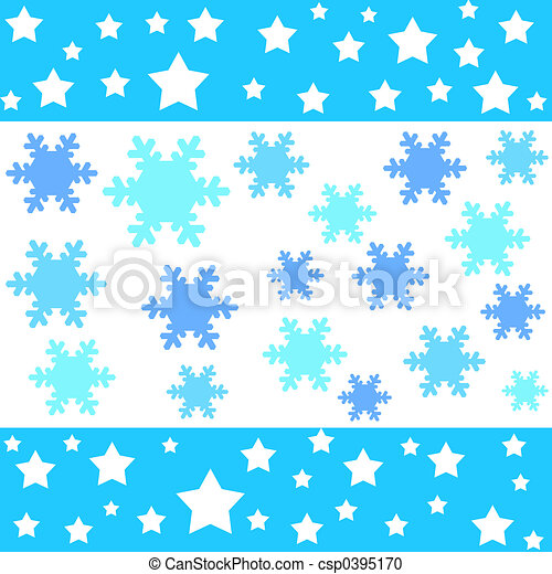 Stars and snow flake - csp0395170
