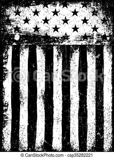 stars and stripes monochrome negative photocopy american flag