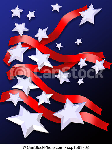 Stars and Stripes Patriotic Background - csp1561702