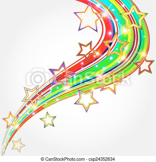 stars., fond, clair, résumé - csp24352634
