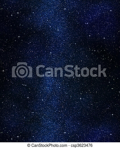 stars in space or night sky - csp3623476