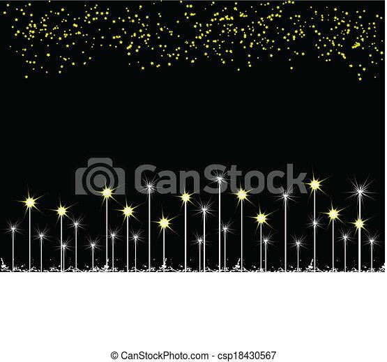 Stars on black background - csp18430567