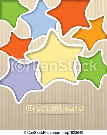 Stars postcard vector illustration - csp7933646