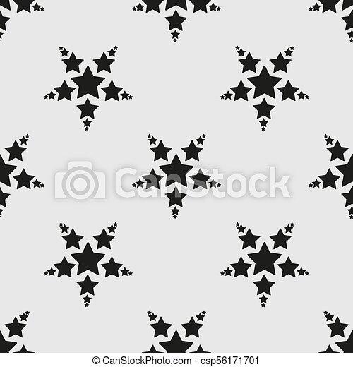 Stars Seamless Pattern. The vector image. Starry night sky - csp56171701