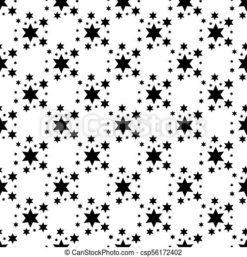 Stars Seamless Pattern. The vector image. Starry night sky - csp56172402