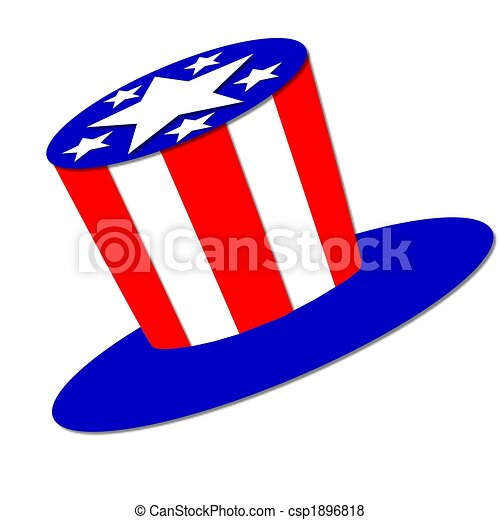 stars stripes hat stock illustration search eps clip art rh canstockphoto com stars and stripes clipart add text stars and stripes banner clip art free
