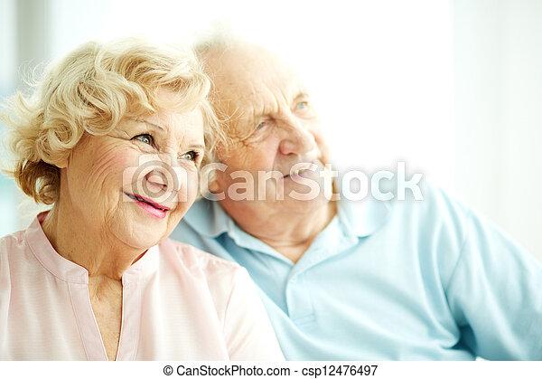 starszy, samica, uroczy - csp12476497