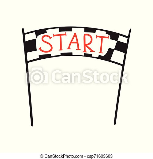 Start And Finish Banner Vector Illustration Of Start And Finish Line Banners Streamers Arch Gate Flags For Outdoor Sport