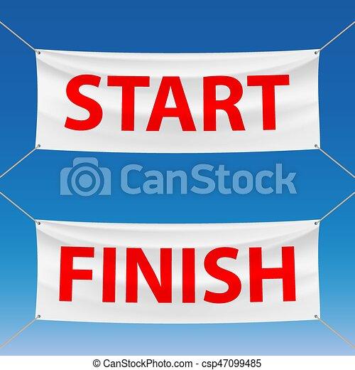 start and finish - csp47099485