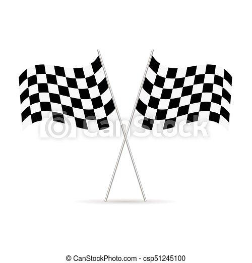 start and finish flags illustration - csp51245100