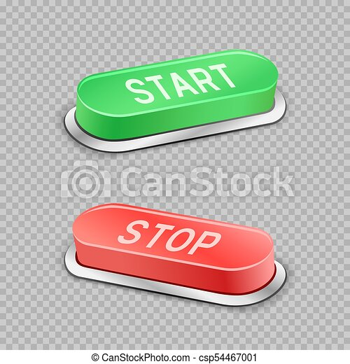 start and stop buttons transparent