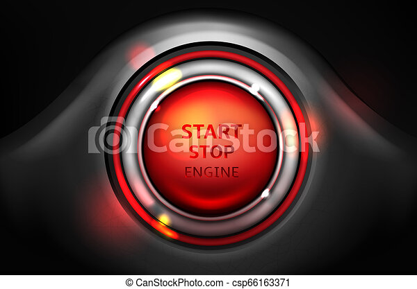 Start and stop engine car ignition button - csp66163371