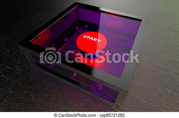 Start button in armored box - csp85721282