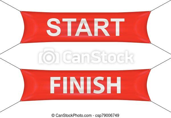 Start finish banner - csp79006749