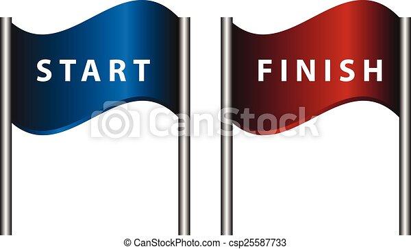 Start finish flags - csp25587733
