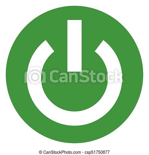 start green circle icon - csp51750877