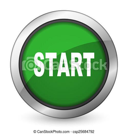 start green icon - csp25684792