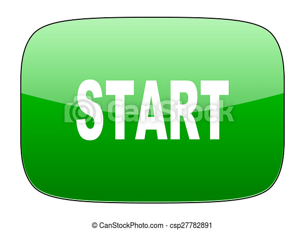 start green icon - csp27782891