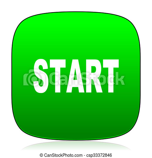 start green icon for web and mobile app - csp33372846