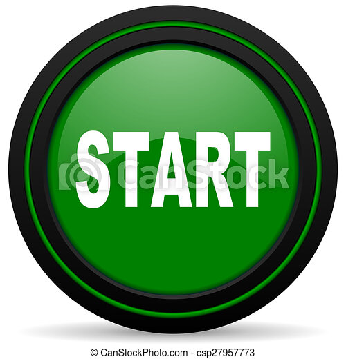 start green icon - csp27957773