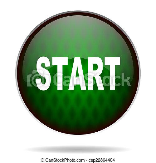 start green internet icon - csp22864404