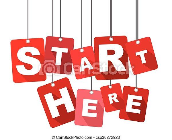 Start here, red vector start here, flat vector start here ...