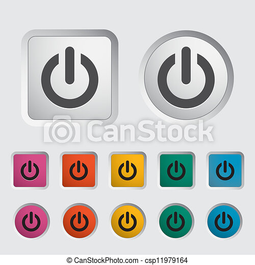 Start icon. - csp11979164