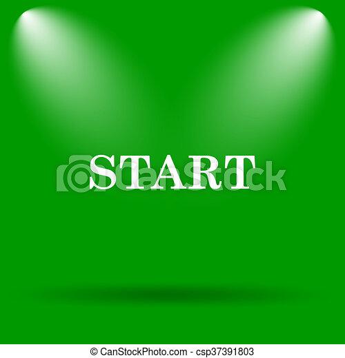 Start icon - csp37391803