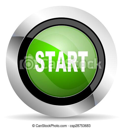 start icon, green button - csp28753683