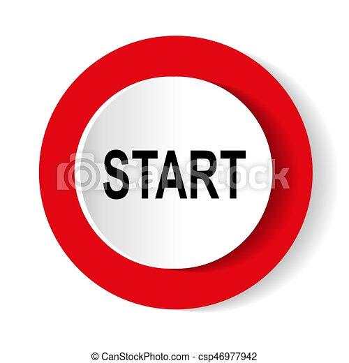 start icon. Internet button - csp46977942