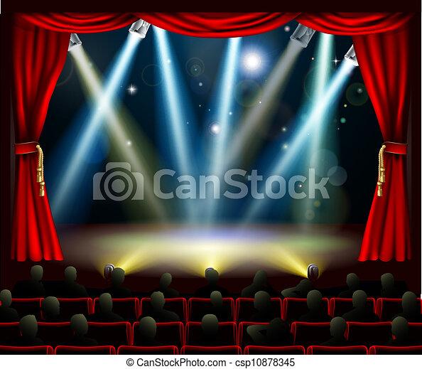 Start of amazing entertainment event - csp10878345