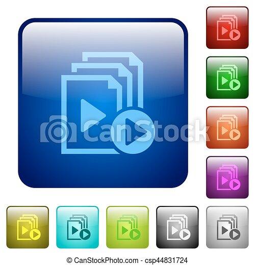 Start playlist color square buttons - csp44831724
