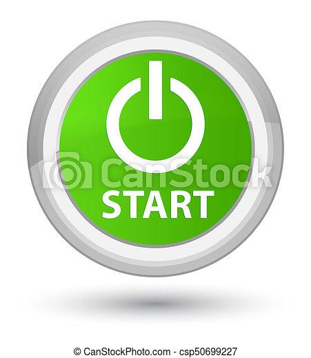 Start (power icon) prime soft green round button - csp50699227
