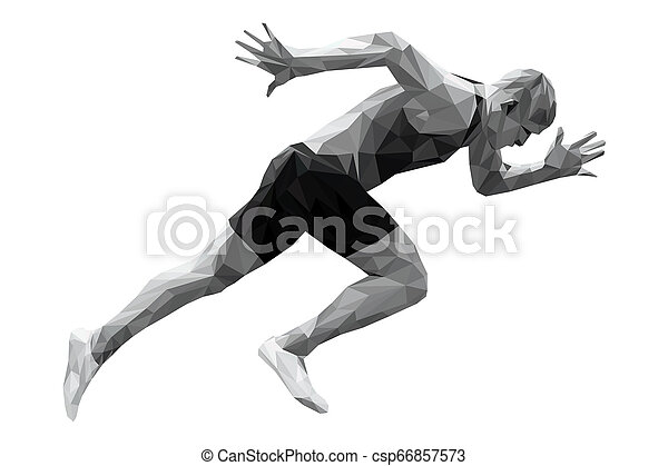 Fangen Sie mit dem Sprinter-Mann an - csp66857573