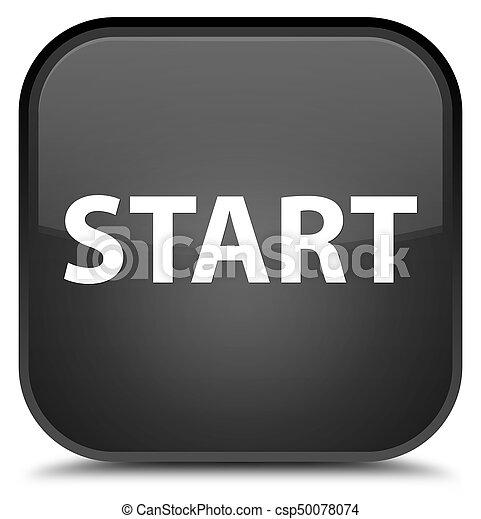 Start special black square button - csp50078074