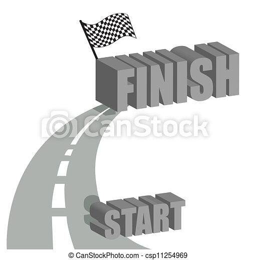 Start to finish road illustration - csp11254969