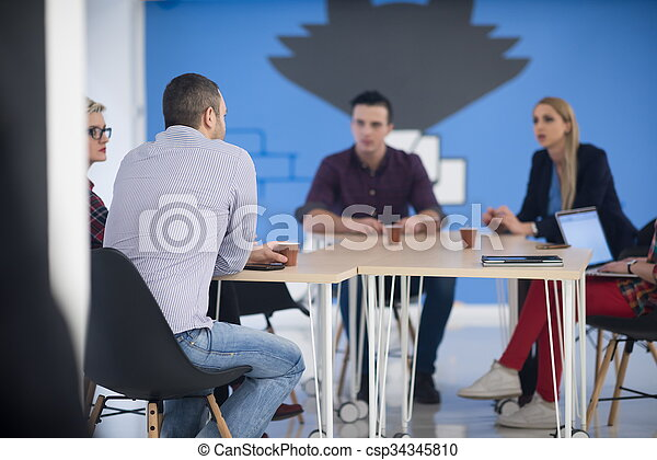 startup business team on meeting - csp34345810