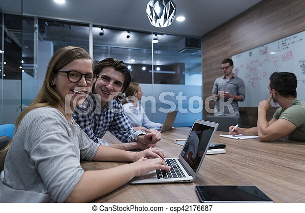 startup business team on meeting - csp42176687