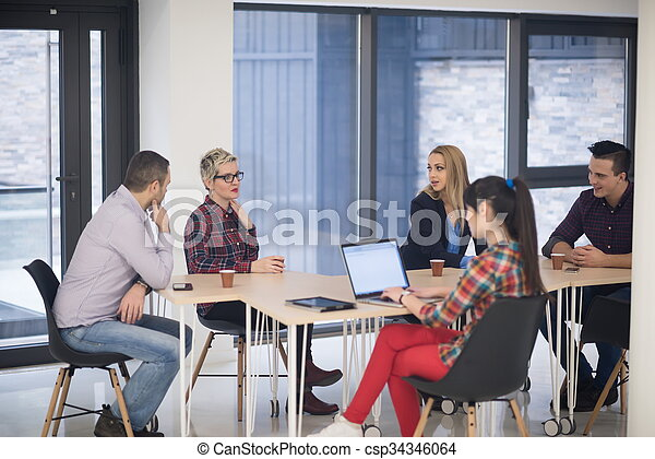 startup business team on meeting - csp34346064