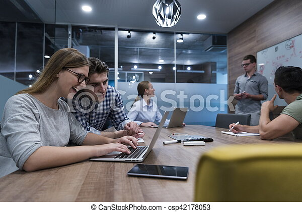 startup business team on meeting - csp42178053