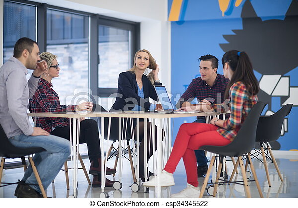 startup business team on meeting - csp34345522