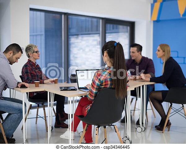 startup business team on meeting - csp34346445