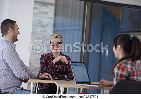 startup business team on meeting - csp34347521