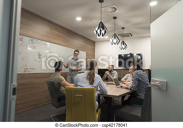 startup business team on meeting - csp42178041