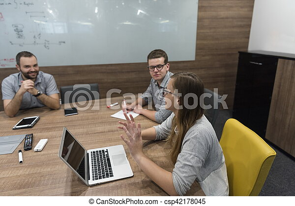 startup business team on meeting - csp42178045