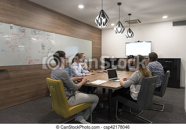 startup business team on meeting - csp42178046